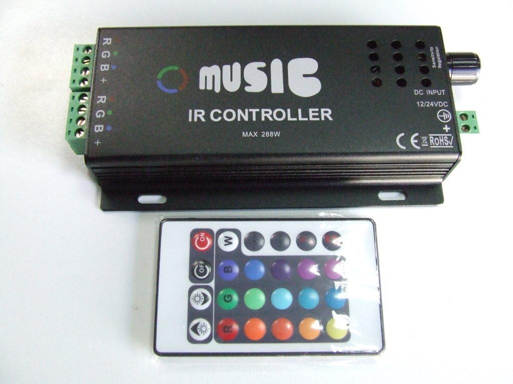 Centralina rgb per strip led con sensore musicale [8055182490066