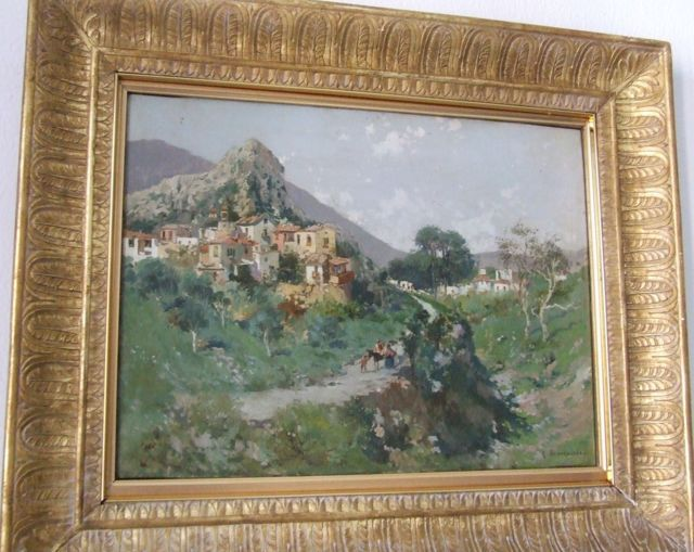 "BRANCACCIO CARLO ""MONTESARCHIO"" OIL ON CANVAS 34 X 49 CM"